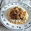 Rognons de veau massalé à l'indienne