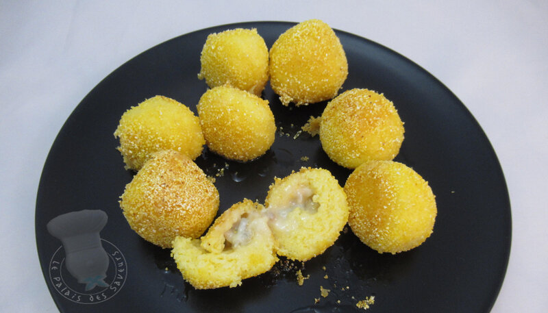 Polpette de polenta au gorgonzola