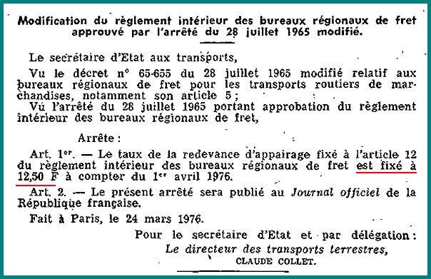Décret 24 mars 1976