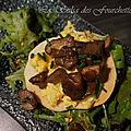 Tartelettes fines aux oeufs brouillés et aux champignons