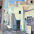aquarelle_ruelle_tunis_Martine