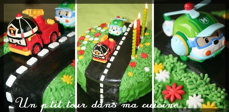 Gâteau Robocar Poli