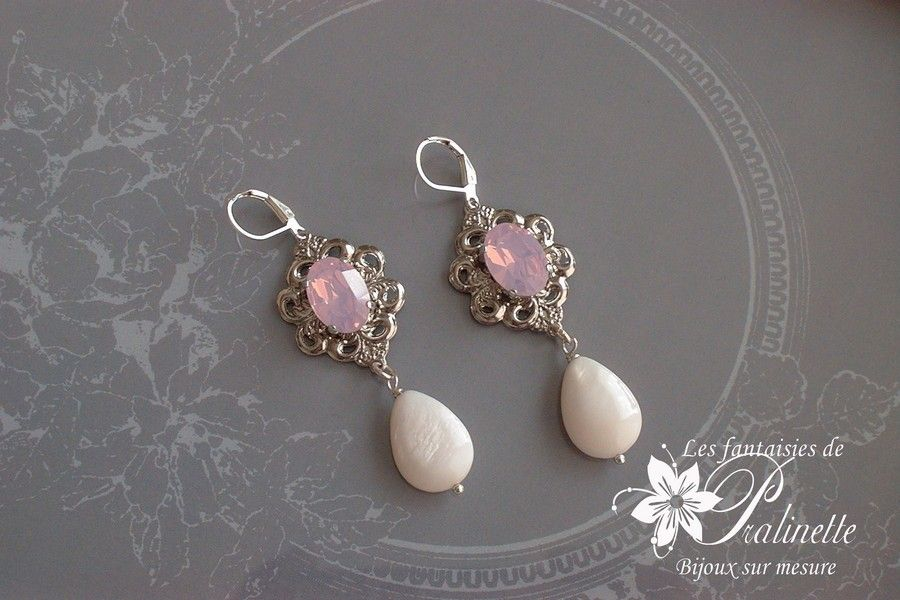 boucles-d-oreilles-mariage-vintage-rose-may