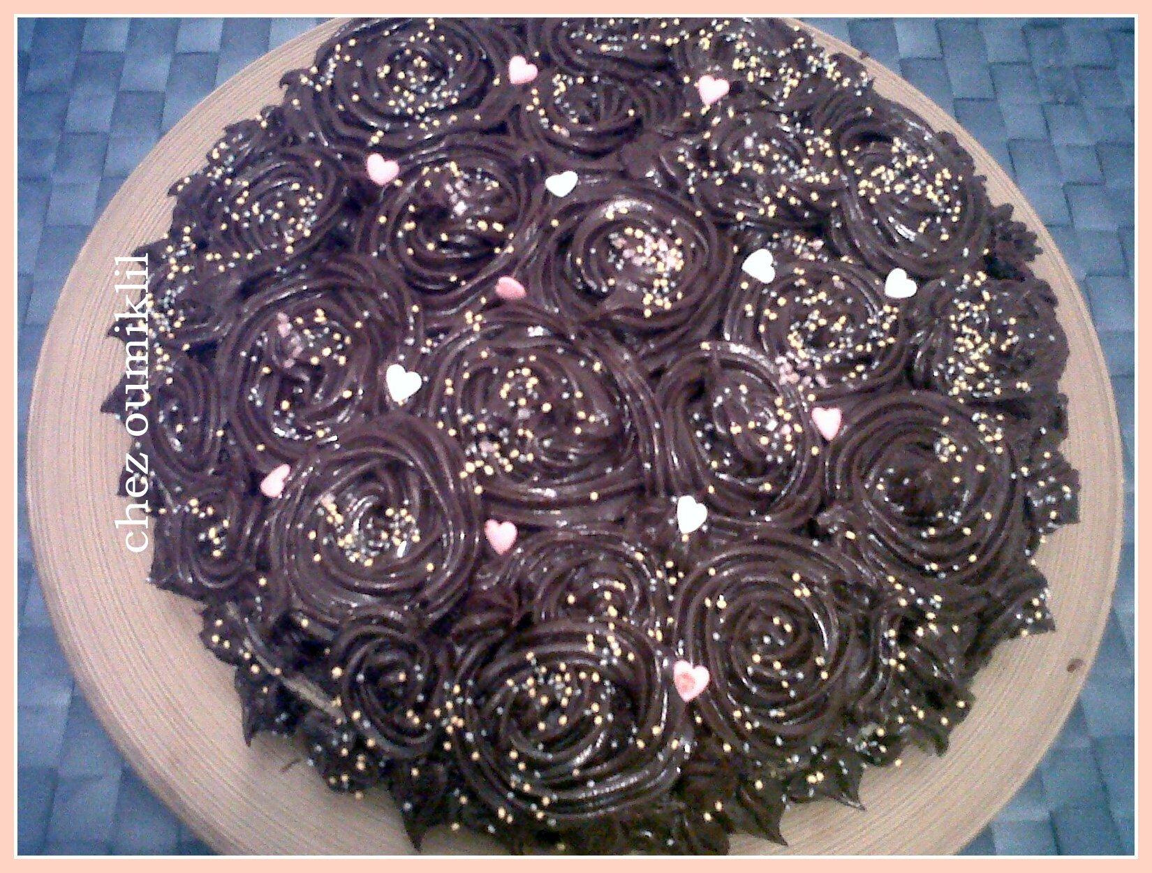 Bouquet de roses au chocolate