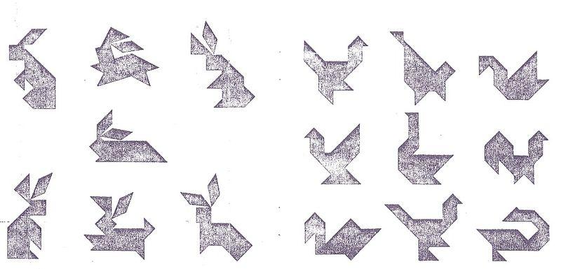 modèles à réaliser tangram