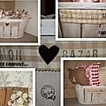 Transformations de cageots chinés