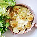 Cassolettes de pommes de terre au saint félicien