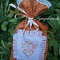 sachet cadeaux orange