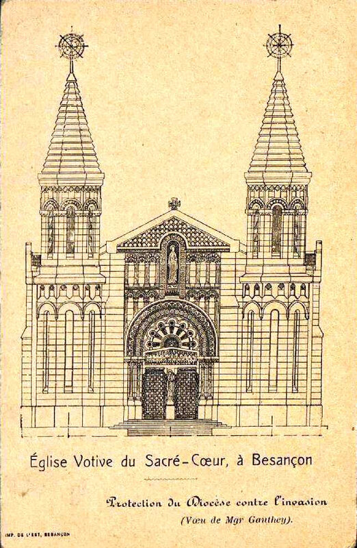 sacré coeur église votive cliché ancien 2
