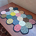 hexagon crochet rug (1)