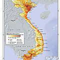 Population distribution map of Vietnam, 1999