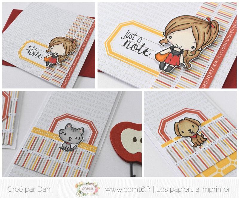 Dani zooms2 carte & marque-pages écolières Nolan 14 Com