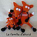 renards-au crochet-en famille