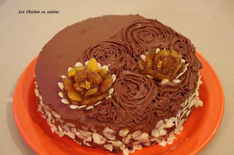 Gâteau framboise et chocolat vegan (1)
