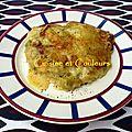 Gratin de ravioles de royans, aux poireaux & cancoillotte
