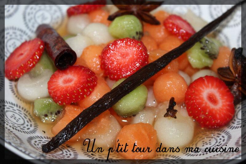 Salade de fruits sirop épicé