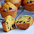 Muffin à la compote de citrouille et gingembre aux pépites de chocolat