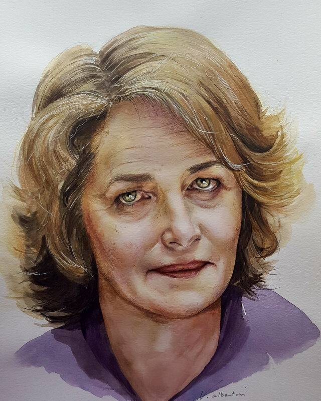 Portrait Charlotte Rampling by valérie Alberosi