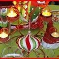table de Noël rouge et anis 42