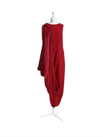 Robe rouge oversize
