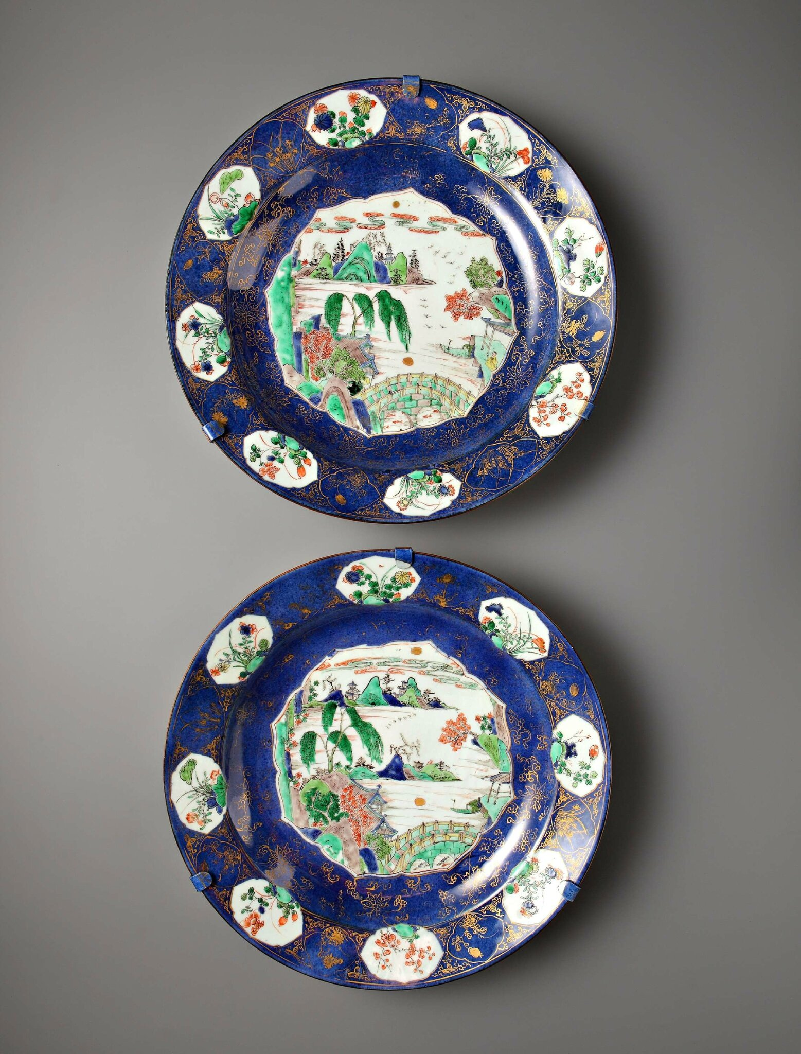 Pair of Powder Blue Plates, China, Kangxi period (1662 – 1722), circa 1700. Photo courtesy Vanderven Oriental Art.