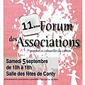 Le 11ème forum des associations du contynois