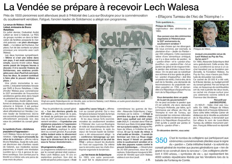 Lech Walesa Vendee