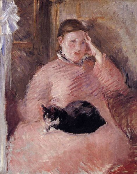 Manet woman-with-a-cat-portrait-of-madame-manet-1882-1883