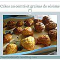 Muffins au comté et aux graines de sésame