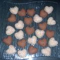Coeurs feuilletés 3 chocolats