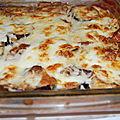 Lasagnes aubergines mozza