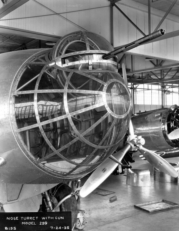Boeing_XB-17_(Model_299)_nose_turret_with_gun