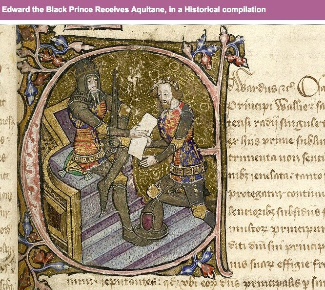Edward the Black Prince receives Aquitaine