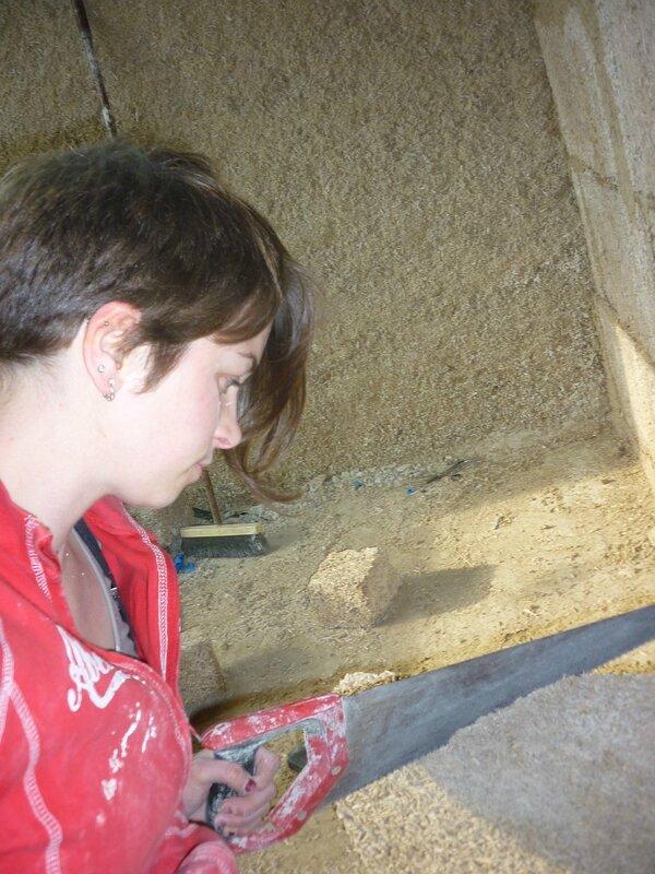 Renover une maison - longère - cloison chanvribloc 13