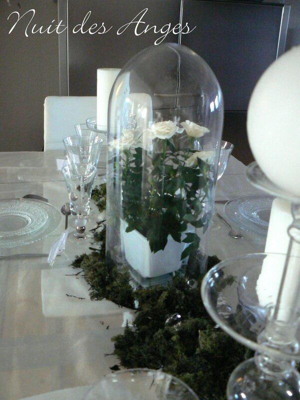 Nuit des anges décoratrice de mariage décoration de table blanche et verte 010
