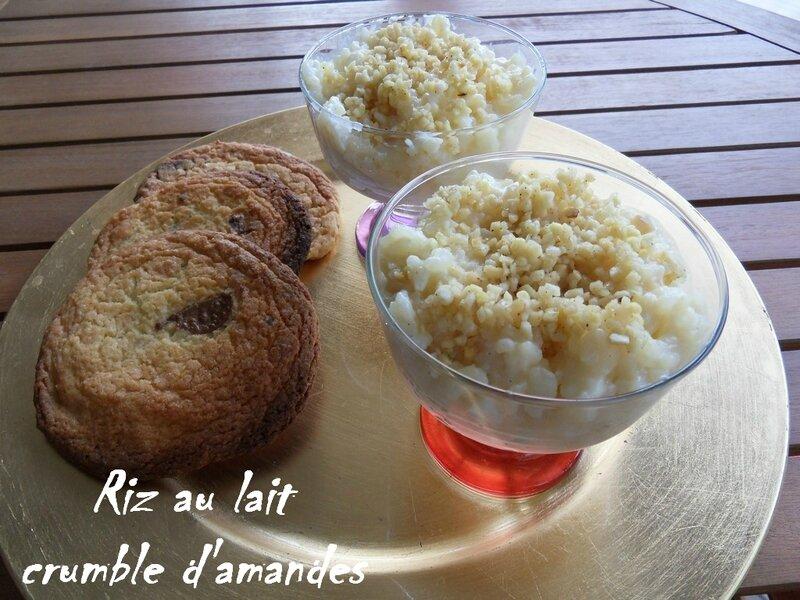 riz au lait crumble d'amandes