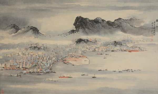 Lu Shoukun (1915-1975) Lion Rock, Hong Kong