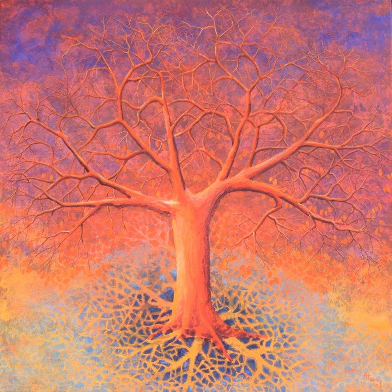 Arbre de vie orange, 2012
