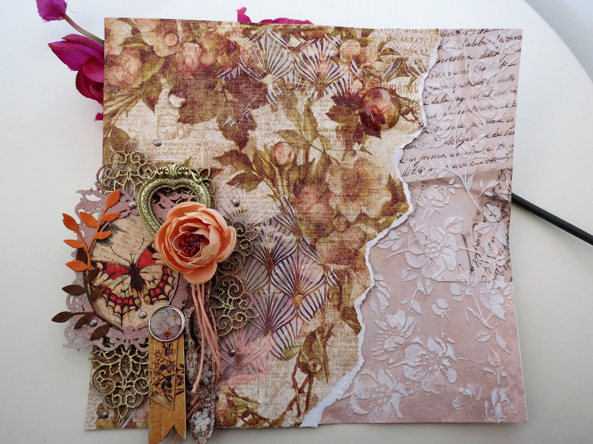 Nomadic Soul Diaries February challenge - Layout