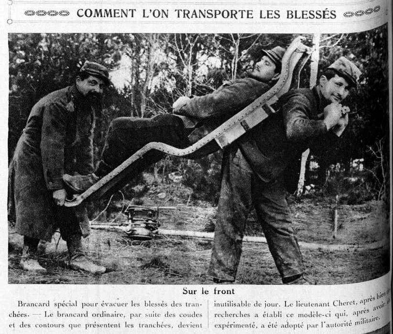 Transport des blessés
