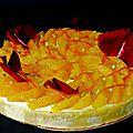 Tarte à l'orange et sa ganache montée aux pistaches et huile d'olive.