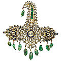 A jewelled and enamelled sarpech, india, 19th century with later elements