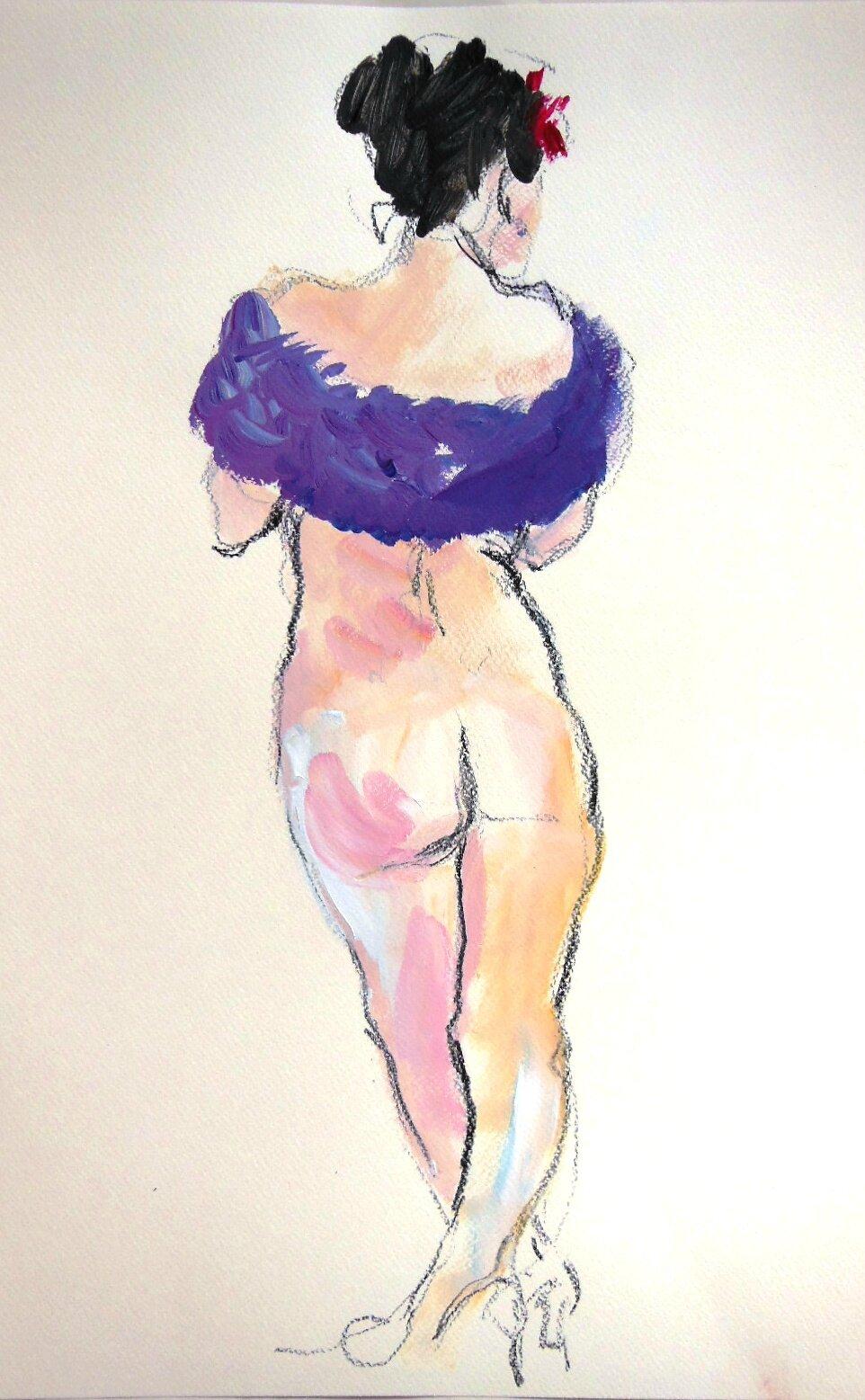 Dessin peinture nu Sylvette tableau Alain Montoir (6)
