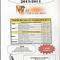 Inscriptions 2013/2014