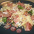 Salade de chiffonnade de jambon de savoie sur crudités