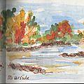 Lac & rivière en automne