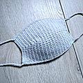 Tuto crochet - masque de protection facile, réutilisable, avec filtres (très rapide)
