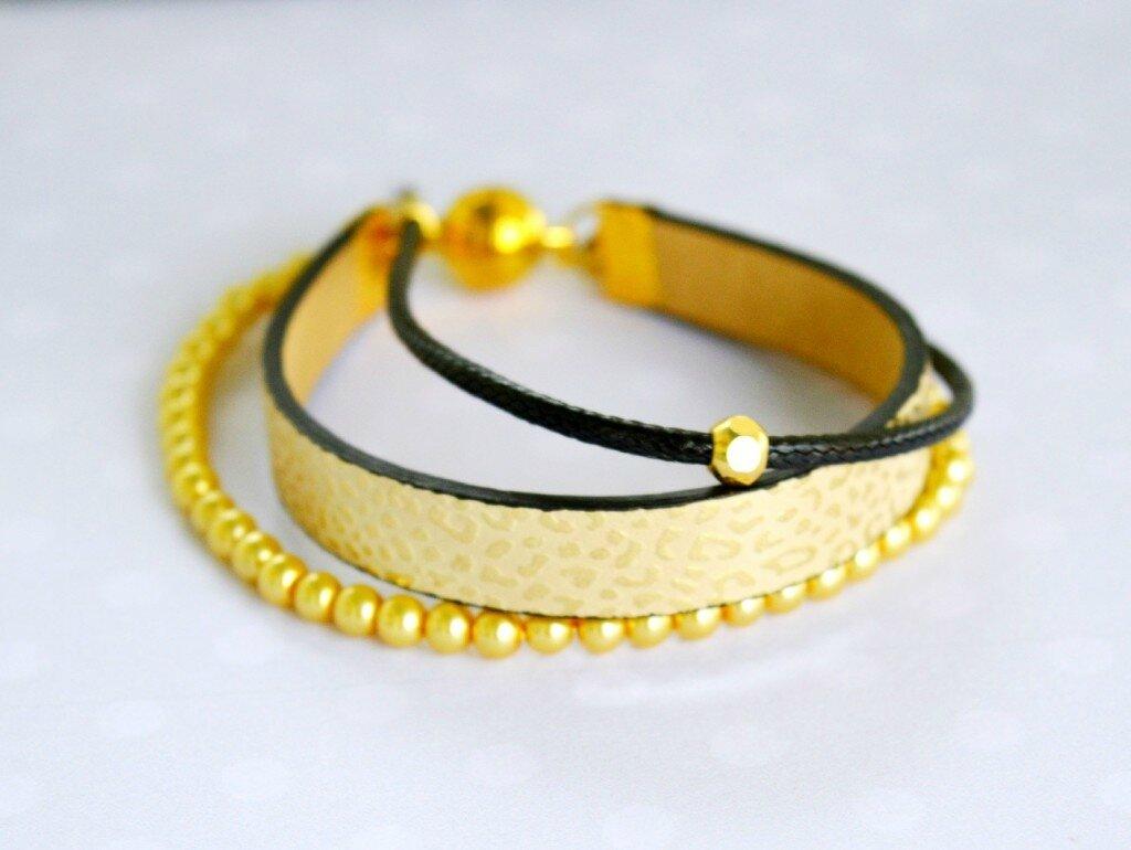 comment faire un bracelet multi-brins en cuir - loisirs créatifs