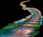 Escalier avec colombe