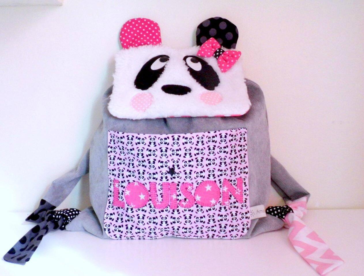 Sac maternelle personnalisé panda
